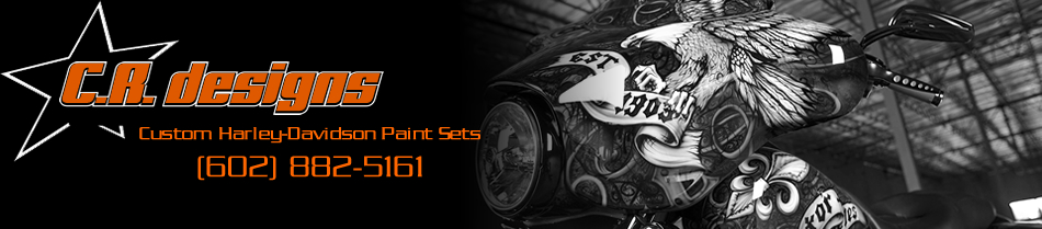 Custom Harley-Davidson Paint Sets Logo