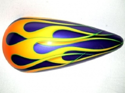 Hot Rod Flames on Violet Pearl Picture